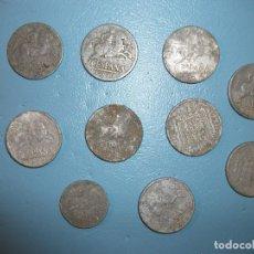 Monedas Franco: LOTE MONEDAS 1941-45. Lote 95377187