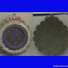 Monedas Franco: GRAN MEDALLÓN COFRADÍA JESÚS NAZARENO MEDALLA EN METAL MIDE 6 CM. DE DIÁMETRO . Lote 96634595