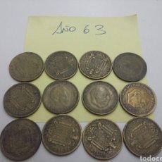 Monedas Franco: LOTE 12 MONEDAS 1 PESETA. Lote 96782987