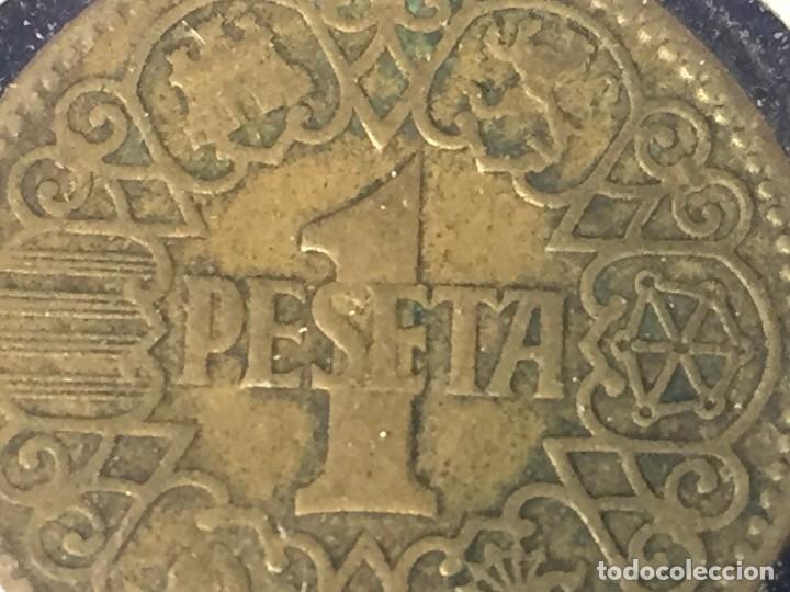 MONEDA UNA PESETA FRANCO 1944 LA DEL UNO, BUEN ESTADO CONSERVADA EN FUNDA (Numismática - España Modernas y Contemporáneas - Estado Español)
