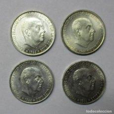 Monedas Franco: 100 PESETAS DEL ESTADO ESPAÑOL DE PLATA DE 1966 * 66 - 67 - 68 -70. LOTE 0624. Lote 97671087