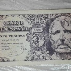 Monedas Franco: BILLETE 5 PESETAS 1947. Lote 97692571