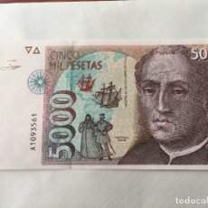 Monedas Franco: BILLETE DE 5000 PESETA SIN CIRCULAR DE 1992. Lote 98122319