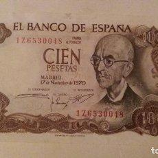 Monedas Franco: BILLETE DE 100 PESETAS 1970 SERIE 1 Z . Lote 98246319