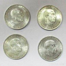 Monedas Franco: 100 PESETAS DEL ESTADO ESPAÑOL DE PLATA DE 1966 * 66 - 67 - 68 -70. LOTE 0644. Lote 98842839