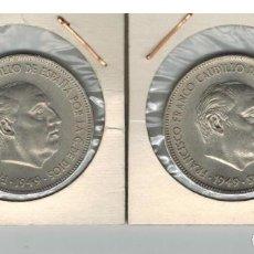 Monedas Franco: PAREJA DUROS FRANCO 1949 S/C. Lote 100084235