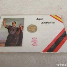 Monedas Franco: TARJETA - CARNET DE JOSÉ ANTONIO CON PEQUEÑA MONEDA. Lote 100387939