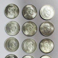 Monedas Franco: CONJUNTO DE 12 MONEDAS DE 100 PESETAS DE PLATA DEL ESTADO ESPAÑOL, VARIAS FECHAS. LOTE 0668. Lote 100505559