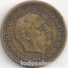 Monedas Franco: ESPAÑA - FRANCO - 1 PESETA 1947 - *19-49 ESTRELLAS LEGIBLES. Lote 101030179