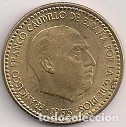 ESPAÑA - ESTADO ESPAÑOL - 1 PESETA 1953 *56 (Numismática - España Modernas y Contemporáneas - Estado Español)