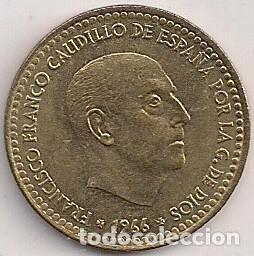 ESPAÑA - ESTADO ESPAÑOL - 1 PESETA 1966 *75 (Numismática - España Modernas y Contemporáneas - Estado Español)