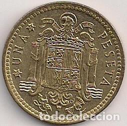 Monedas Franco: España - Estado Español - 1 peseta 1966 *75 - Foto 2 - 102014091