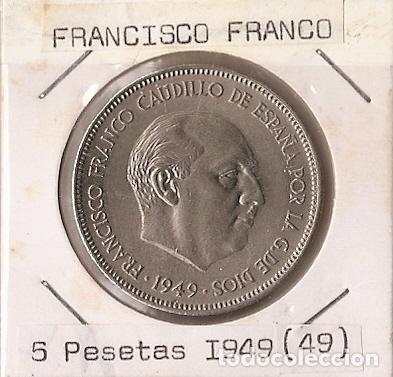 ESPAÑA 1949 (*19-49). MONEDA DE 5 PESETAS. SC (Numismática - España Modernas y Contemporáneas - Estado Español)