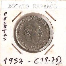 Monedas Franco: ESPAÑA 1957 (*19-75). MONEDA DE 25 PESETAS.. Lote 102293627