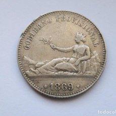 Monedas Franco: GOBIERNO PROVISIONAL 1 PESETA. 1869 SNM, CY17424. 4,90GRM, MBC. Lote 103158039