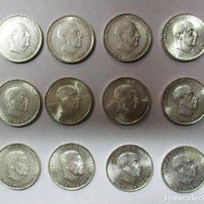 Monedas Franco: CONJUNTO DE 12 MONEDAS DE 100 PESETAS DE PLATA DEL ESTADO ESPAÑOL, VARIAS FECHAS. LOTE 0727. Lote 103508547