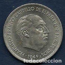 Monedas Franco: 5 PESETAS 1949 (*19-50) (DURO GRANDE) SC . Lote 103870139