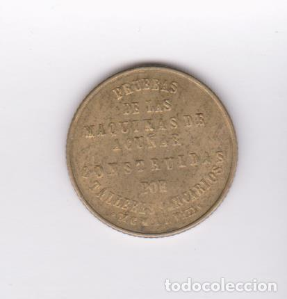 Monedas Franco: MONEDAS ESTADO ESPAÑOL - PRUEBA DE MAQUINA TALLERES SAN CARLOS - CADIZ - PG-267Ba - Foto 2 - 104278899