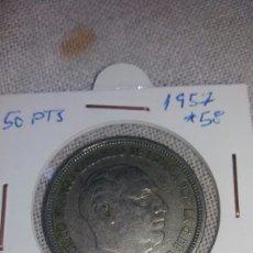 Monedas Franco: MONEDA DE 50 PTS DE FRANCO 1957 *58. Lote 238912895
