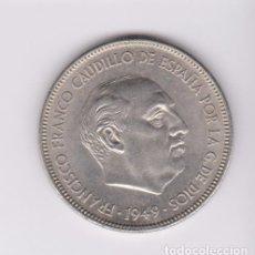 Monedas Franco: MONEDAS - ESTADO ESPAÑOL - 5 PESETAS 1949/ 19-50 - PG-304 (EBC-). Lote 105113339