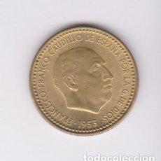Monedas Franco: MONEDAS - ESTADO ESPAÑOL - 1 PESETA 1953 - 19-54 - PG-277 (SC). Lote 105129215