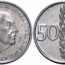 Monedas Franco: ESPAÑA SPAIN 50 CÉNTIMOS 1966 *68 KM 795 SC UNC. Lote 182261761