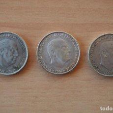 Monedas Franco: GANGA OFERTA LOTE 3 MONEDAS 100 PESETAS FRANCO 1966 ESTRELLAS 1966 1967 1968 PLATA VER FOTOS ESPAÑA. Lote 105820815