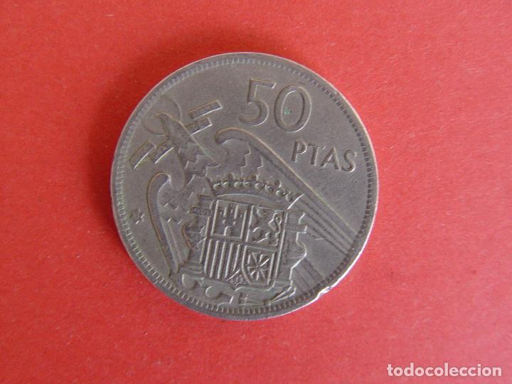 Monedas Franco: Lote 2 MONEDAS: 50 pesetas (1957: *60 y *71) Franco ¡Coleccionista! ¡Originales! - Foto 5 - 107207311
