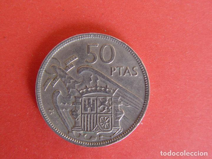 Monedas Franco: Lote 2 MONEDAS: 50 pesetas (1957: *60 y *71) Franco ¡Coleccionista! ¡Originales! - Foto 6 - 107207311