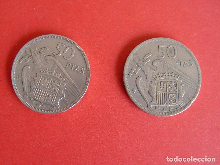 Monedas Franco: Lote 2 MONEDAS: 50 pesetas (1957: *60 y *71) Franco ¡Coleccionista! ¡Originales! - Foto 7 - 107207311