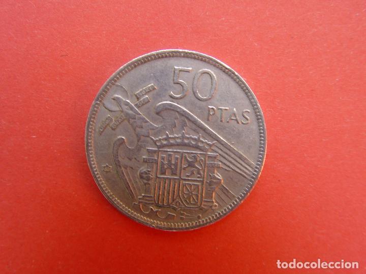 Monedas Franco: Lote 2 MONEDAS: 50 pesetas (1957: *60 y *71) Franco ¡Coleccionista! ¡Originales! - Foto 8 - 107207311