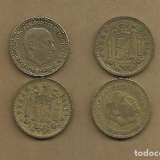 Monedas Franco: ESPAÑA: 4 MONEDAS DE 1 PESETA 1963 *63,*64,*65,*66. Lote 107233503