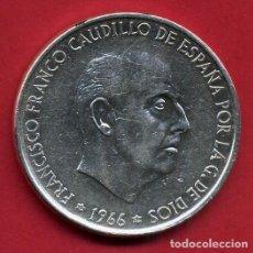 Monedas Franco: MONEDA PLATA , 100 PESETAS FRANCO , 1966 ESTRELLAS VISIBLES 19 70 , EBC , ORIGINAL , B5. Lote 107677783