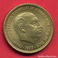 Monedas Franco: MONEDA 2,50 PESETAS FRANCO , 1953 ESTRELLAS VISIBLES 19 54 , EBC+ , ORIGINAL , B5. Lote 107678015