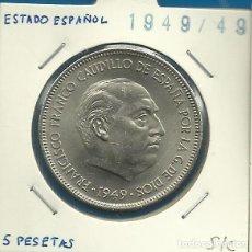 Monedas Franco: ESTADO ESPAÑOL 5 PESETAS NI 1949 *19-49 S/C. Lote 108738851