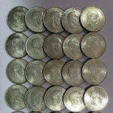 Monedas Franco: CONJUNTO DE 25 MONEDAS DE 100 PESETAS DE PLATA DEL ESTADO ESPAÑOL, VARIAS FECHAS. LOTE 0815. Lote 109072071