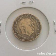 Monedas Franco: PESETA FRANCO 1947 ESTRELLA 49 MBC.. Lote 109121591