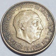 Monedas Franco: PESETA FRANCO 1953 ESTRELLA 60 MBC.. Lote 109122039