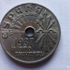 Monedas Franco: MONEDA 25 CTS, AÑO 1937, II AÑO TRIUNFAL. Lote 109331839