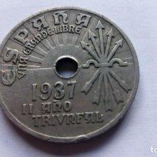 Monedas Franco: MONEDA 25 CTS, AÑO 1937, II AÑO TRIUNFAL. Lote 109332011