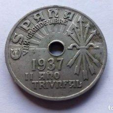 Monedas Franco: MONEDA 25 CTS, AÑO 1937, II AÑO TRIUNFAL. Lote 109332063