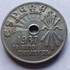 Monedas Franco: MONEDA 25 CTS, AÑO 1937, II AÑO TRIUNFAL. Lote 109332199