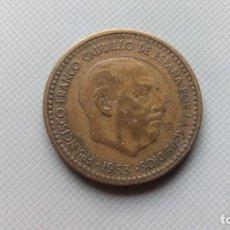 Monedas Franco: MONEDA UNA PESETA 1953 - 56. Lote 109342187