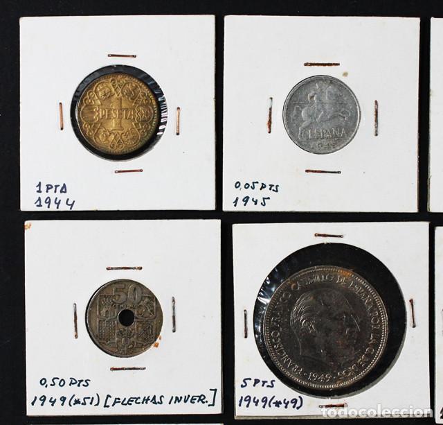 Monedas Franco: LOTE 22 MONEDAS DE FRANCISCO FRANCO 0,10 0,50 1 2,50 5 25 50 PESETAS ENCARTONADAS, VER RELACION - Foto 3 - 110048375