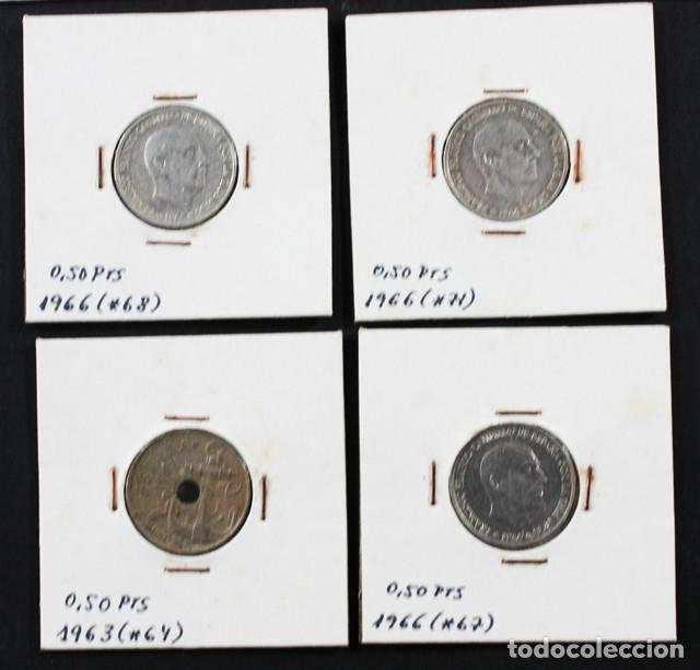 Monedas Franco: LOTE 22 MONEDAS DE FRANCISCO FRANCO 0,10 0,50 1 2,50 5 25 50 PESETAS ENCARTONADAS, VER RELACION - Foto 7 - 110048375