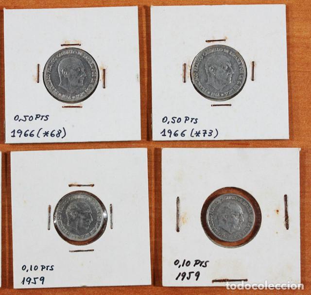 Monedas Franco: LOTE 13 MONEDAS DE FRANCISCO FRANCO 0,10 0,50 2,50 5 PESETAS ENCARTONADAS, VER RELACION Y FOTOS - Foto 2 - 110048555