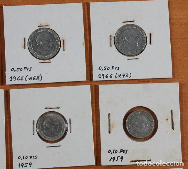 Monedas Franco: LOTE 13 MONEDAS DE FRANCISCO FRANCO 0,10 0,50 2,50 5 PESETAS ENCARTONADAS, VER RELACION Y FOTOS - Foto 5 - 110048555