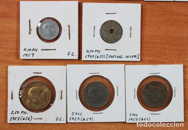 Monedas Franco: LOTE 13 MONEDAS DE FRANCISCO FRANCO 0,10 0,50 2,50 5 PESETAS ENCARTONADAS, VER RELACION Y FOTOS - Foto 6 - 110048555
