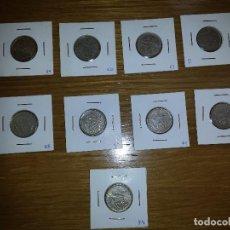 Monedas Franco: LOTE DE NUEVE DUROS DE 5 PESETAS FRANCO. Lote 110198739