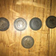 Monedas Franco: LOTE 5 MONEDAS 1 PESETA SOLO UNA SE VEN ESTRELLAS 19 Y 53. Lote 110499959